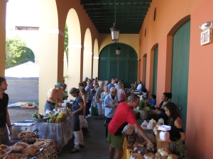 Only about 20 vendors at this small weekly farmers' market but it was bustling!