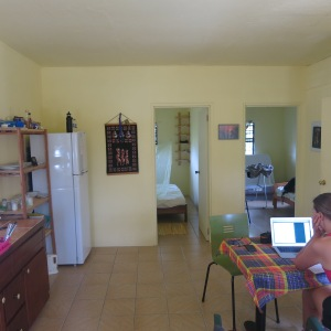 Interior view of our house in Marigot