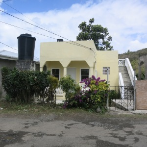 The street view of our house in Marigot