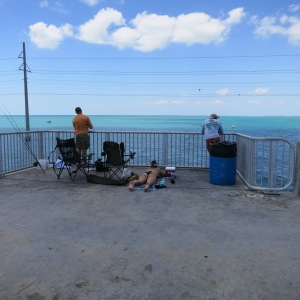 "Two bridge fisherman in the Keys with a ""keeper"""