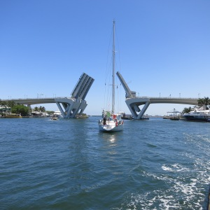 The Intracoastal Waterway travels the length of Florida and includes hundreds of bridges. We regularly cross them and wait for them to come back down after raising their span for boat traffic.