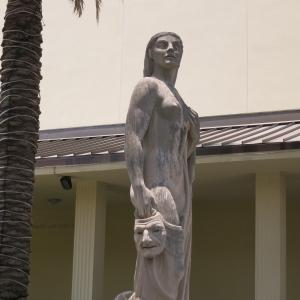 Sculpture garden at Norton Art Museum.