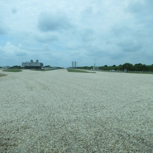 The Crawlerway connecting the assembly building to the launch pads at Kennedy Space Center
