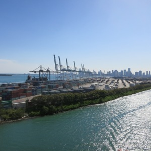 Port of Miami has a lot of industrial traffic in addition to cruise traffic