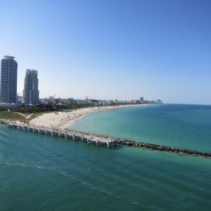 The southern end of the infamous South Beach in Miami.