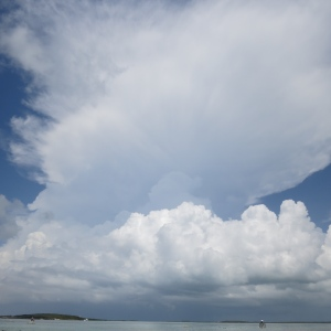 Beautiful clouds. Thunderheads get more common as we start into the rainy season