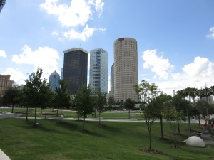 Downtown Tampa skyline, as seen from Kiley Garden.