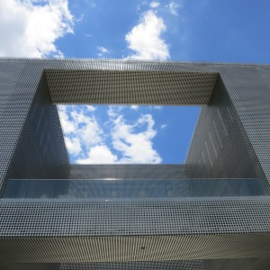 Tampa's Museum of Art had fun modernist architecture, like this walkway and giant hole to the sky.