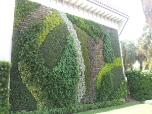 The town of Palm Beach hosts this beautiful living wall.