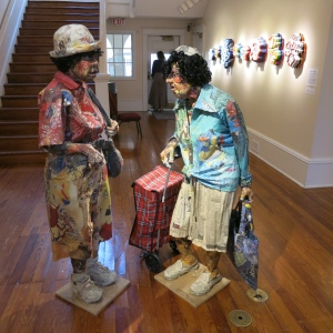 Exhibit of paper art at Cornell Museum in Delray Beach. These women were life sized.