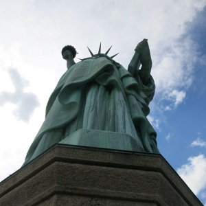 View of the Statue of Liberty from the pedestal