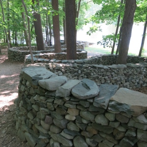 Storm King Art Center had a couple rock walls by the talented Andy Goldsworthy, one of Megan's favorite artists