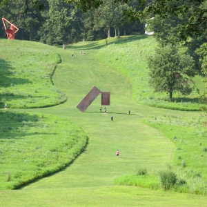 Storm King Art Center. Check out the kid jumping under the central statue