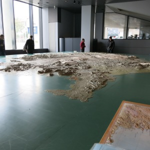 3D map of Iceland in City Hall. It took 4 men 4 years to build this map.
