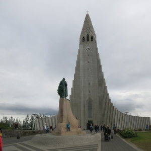 Hallgrímskirkja, a Lutheran church in Reykjavik. We went up to the windows at the top to overlook the city.