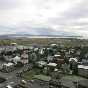 View of Reykjavik airport, which was built by the British and Americans in  the 1940s. Jim's father flew in and out of this airport hundreds of times as an air transport command pilot for the US Army Airforce during WWII.