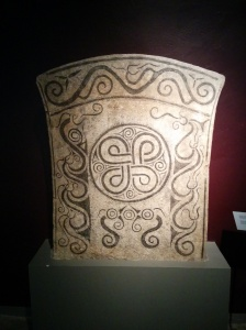 Picture stones carved between 500-700AD on Gotland. Many of them are thought to contain cosmology.