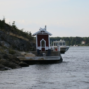Many houses on near the shore have a small sauna building right down on the water.