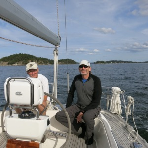 Jim and Sven sailing Season.