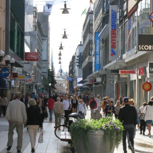 Downtown Stockholm has bustling pedestrian malls
