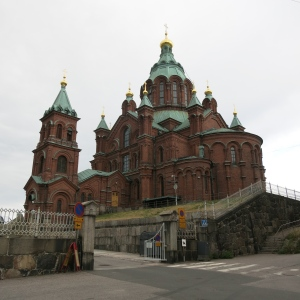 Upenski Cathedral in Helsinki, Finland is the largest Orthodox Church in western Europe