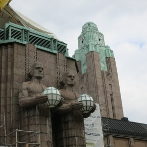 Helsinki, Finland. The entrance to Central Rail Station.
