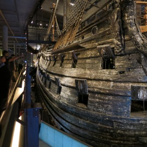 Vasa. Look on the right hand side to see the scale of this ship by comparing it to the people and 7 floors of this museum