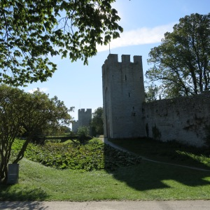 Protective wall around Visby, Gotland. The wall was first constructed in the 12th century.