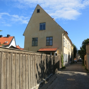 Visby, Gotland. Many houses here have asymmetrical rooflines.