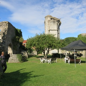 Visby, Gotland. The ruins of S:t Han are now an open-air restaurant.
