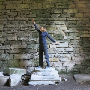 Strike a pose in the ruins of S:t Olof, Visby.
