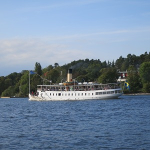 An old steam boat, still used everyday as one of the ferries shuttling people around the Stockholm archipelago.