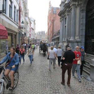 Busy street in Bruges. The 120,000 residents deal with over 3 million tourists each year.