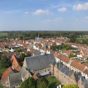 Damme, Belgium. Very sweet village near Bruges. Note how quickly the buildings dissolve into farm land.