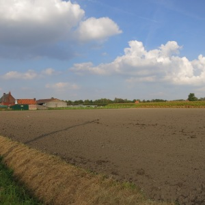 An example of the farmland around Bruges