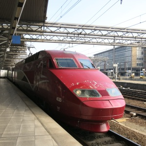 The high-speed train that took us to Paris.