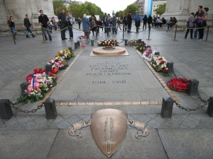 France's unknown soldier memorial at the Arc de Triomphe.