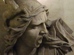 Sculptural detail at the Arc de Triomphe.