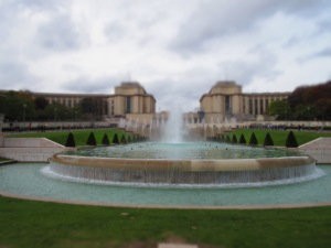 Fountain at Jardin Trocadero.