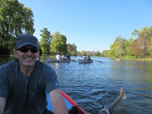 Jim rowing at Bois Vincennes