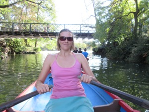 Megan rowing at Bois Vincennes