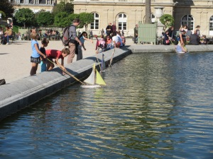 For centuries, children have pushed sailboats around in this fountain.