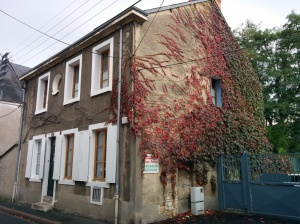 Jim's old house. The vines all over Châteauroux were turning red. 2014