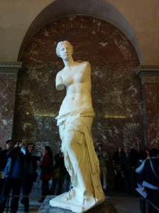 Venus de Milo, the original boobelisk, as seen at the Louvre.