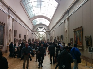 Louvre. Despite all the people and many pieces of art, the galleries were easy to get around in.