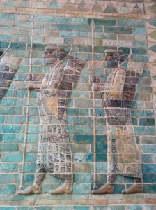 Louvre. Striking tile work from the ancient Near East, in the area of modern day Iran.