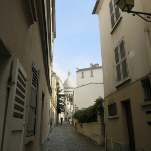 Montmartre, looking to Sacre Coeur.
