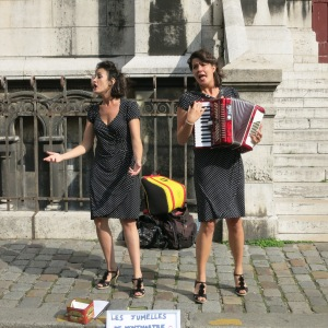 Very fun buskers outside Sacre Coeur. They were singing harmony and hamming it up.