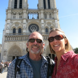 Us outside Notre Dame