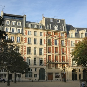 A lovely square in the heart of old Paris.